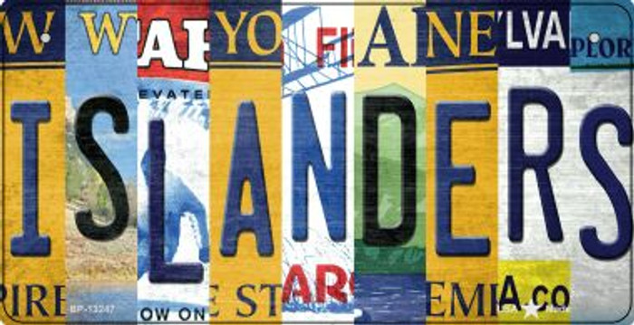 Islanders Strip Art Wholesale Novelty Metal Bicycle Plate BP-13247
