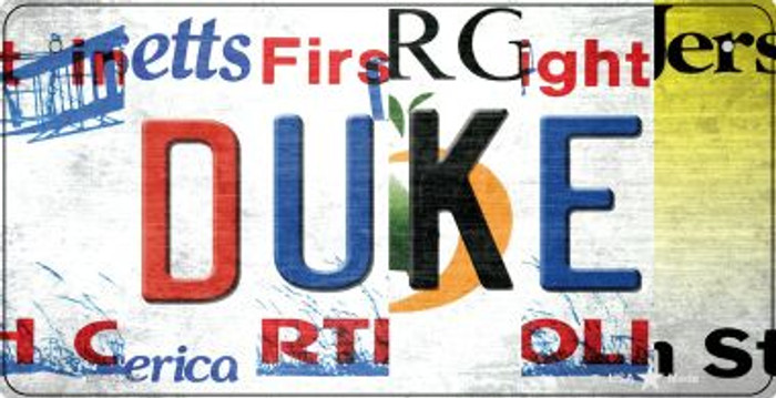 Duke Strip Art Wholesale Novelty Metal Bicycle Plate BP-13276