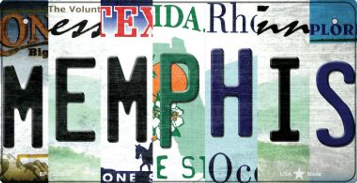 Memphis Strip Art Wholesale Novelty Metal Bicycle Plate BP-13286