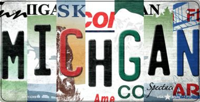 Michigan Strip Art Wholesale Novelty Metal Bicycle Plate BP-13289