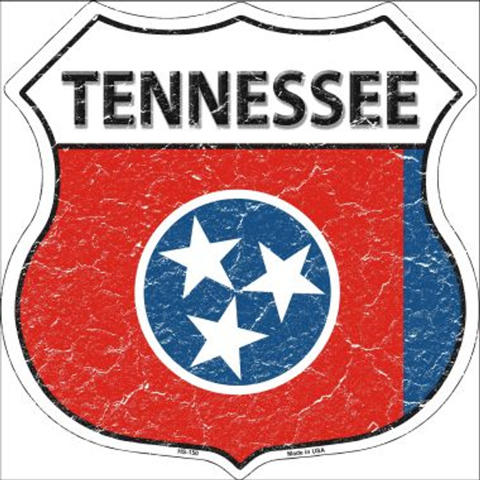 Tennessee State Flag Highway Shield Wholesale Metal Sign