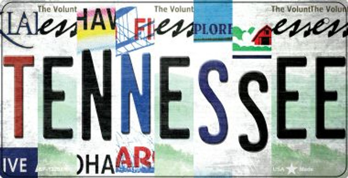 Tennessee Strip Art Wholesale Novelty Metal Bicycle Plate BP-13298