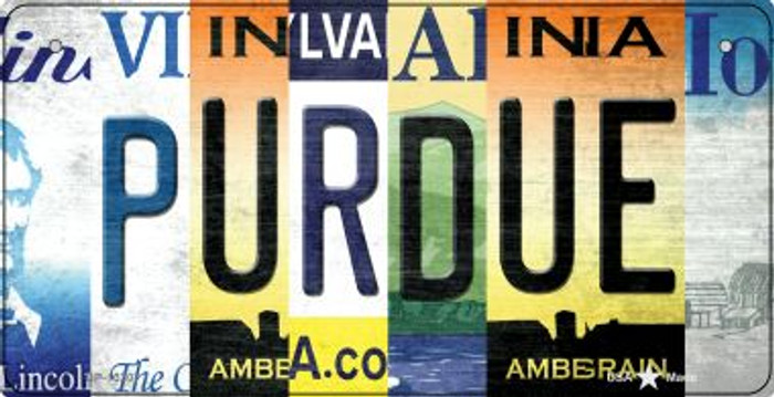 Purdue Strip Art Wholesale Novelty Metal Bicycle Plate BP-13307