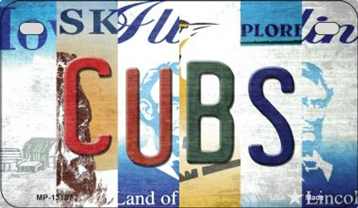 Cubs Strip Art Wholesale Novelty Metal Motorcycle Plate MP-13187