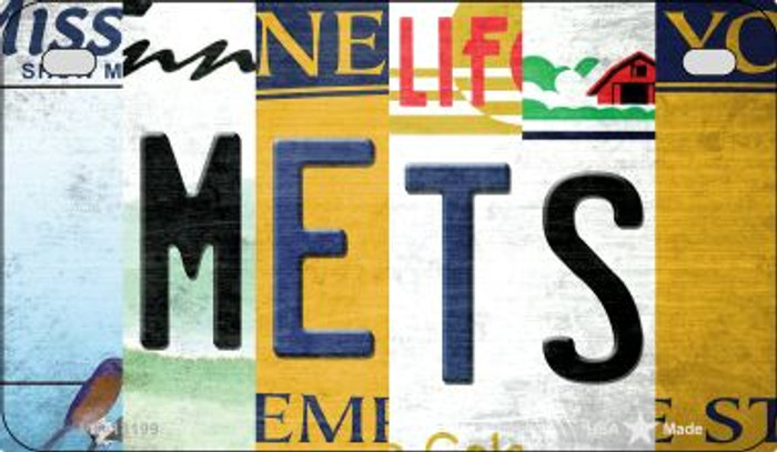 Mets Strip Art Wholesale Novelty Metal Motorcycle Plate MP-13199