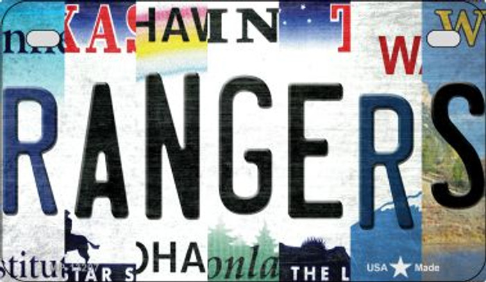 Rangers Strip Art Wholesale Novelty Metal Motorcycle Plate MP-13207