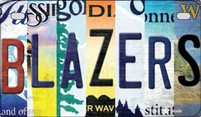 Blazers Strip Art Wholesale Novelty Metal Motorcycle Plate MP-13235