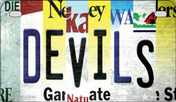 Devils Strip Art Wholesale Novelty Metal Motorcycle Plate MP-13246