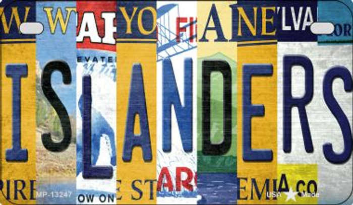 Islanders Strip Art Wholesale Novelty Metal Motorcycle Plate MP-13247