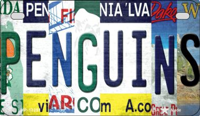 Penguins Strip Art Wholesale Novelty Metal Motorcycle Plate MP-13251