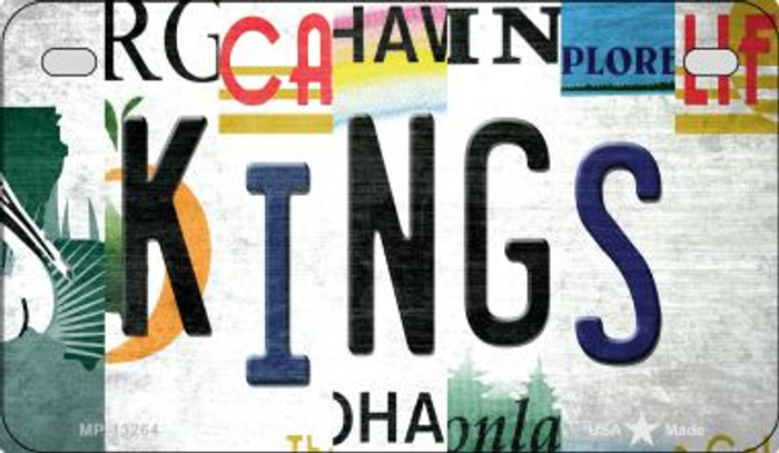Kings Strip Art Wholesale Novelty Metal Motorcycle Plate MP-13264