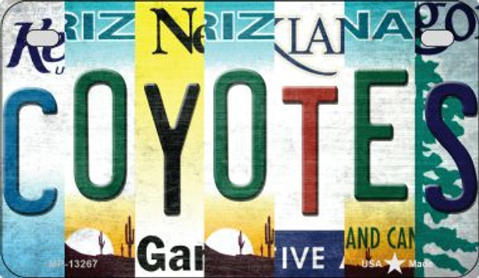 Coyotes Strip Art Wholesale Novelty Metal Motorcycle Plate MP-13267