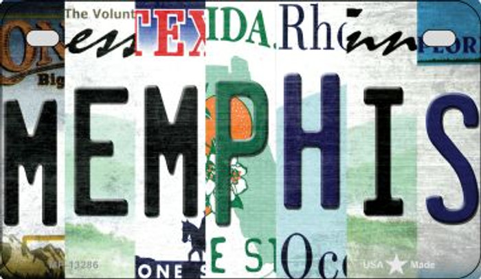 Memphis Strip Art Wholesale Novelty Metal Motorcycle Plate MP-13286