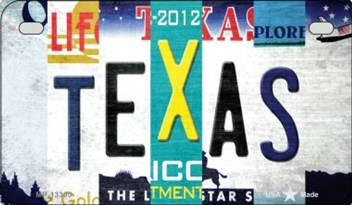 Texas Strip Art Wholesale Novelty Metal Motorcycle Plate MP-13300