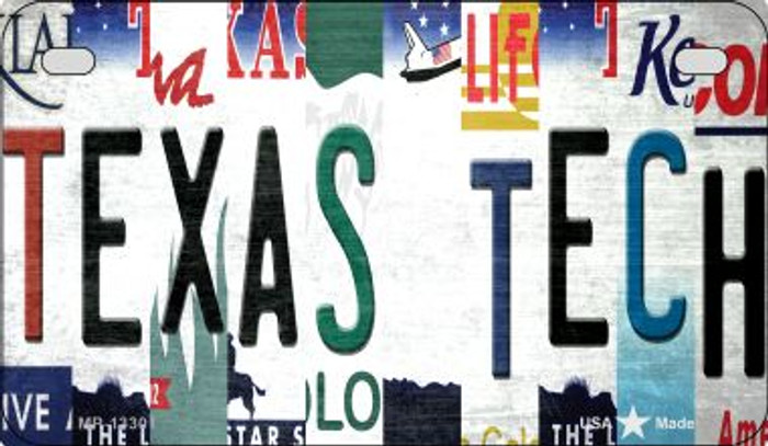 Texas Tech Strip Art Wholesale Novelty Metal Motorcycle Plate MP-13301