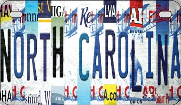 North Carolina Strip Art Wholesale Novelty Metal Motorcycle Plate MP-13302