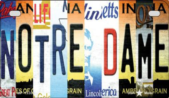 Notre Dame Strip Art Wholesale Novelty Metal Motorcycle Plate MP-13303