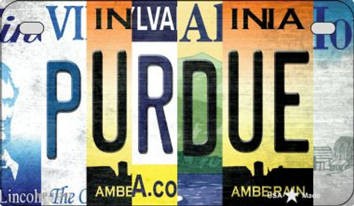 Purdue Strip Art Wholesale Novelty Metal Motorcycle Plate MP-13307