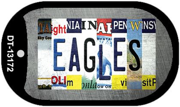 Eagles Strip Art Wholesale Novelty Metal Dog Tag Necklace DT-13172