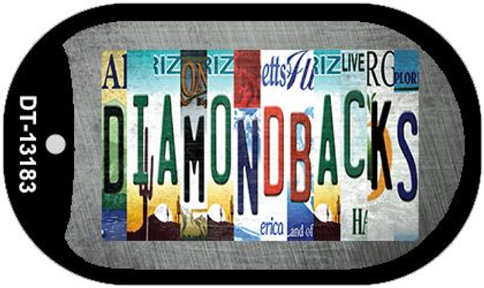 Diamondbacks Strip Art Wholesale Novelty Metal Dog Tag Necklace DT-13183
