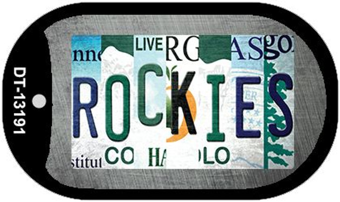 Rockies Strip Art Wholesale Novelty Metal Dog Tag Necklace DT-13191