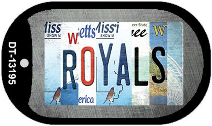Royals Strip Art Wholesale Novelty Metal Dog Tag Necklace DT-13195
