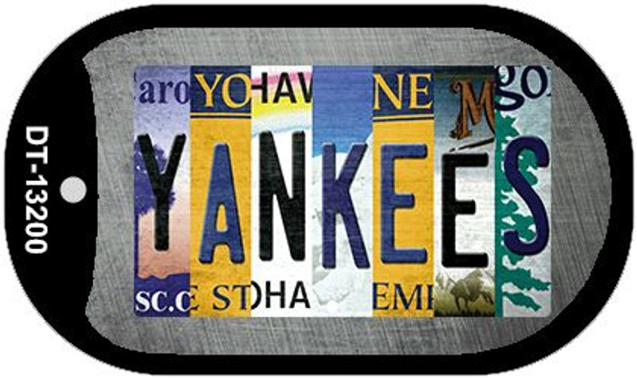 Yankees Strip Art Wholesale Novelty Metal Dog Tag Necklace DT-13200