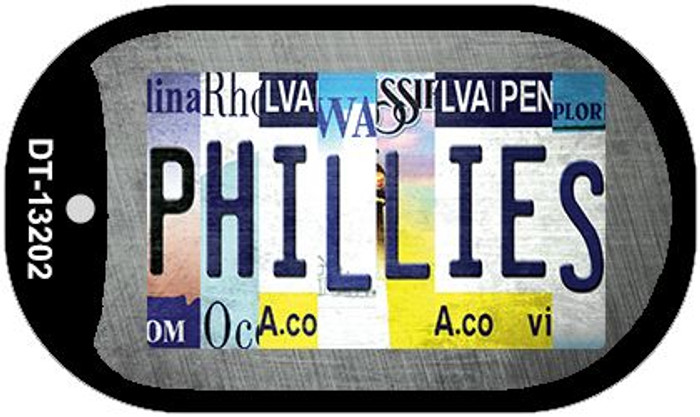 Phillies Strip Art Wholesale Novelty Metal Dog Tag Necklace DT-13202