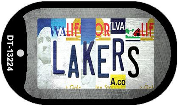 Lakers Strip Art Wholesale Novelty Metal Dog Tag Necklace DT-13224