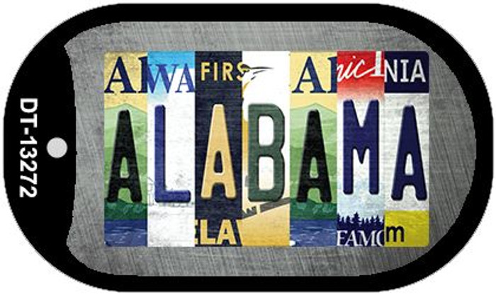 Alabama Strip Art Wholesale Novelty Metal Dog Tag Necklace DT-13272