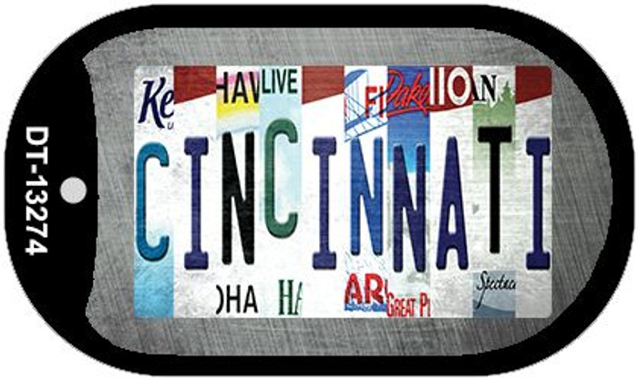 Cincinnati Strip Art Wholesale Novelty Metal Dog Tag Necklace DT-13274