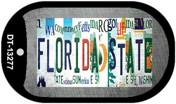 Florida State Strip Art Wholesale Novelty Metal Dog Tag Necklace DT-13277