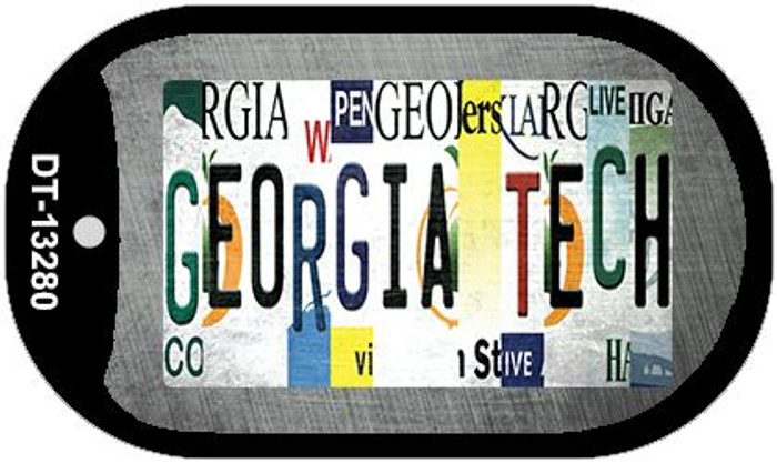Georgia Tech Strip Art Wholesale Novelty Metal Dog Tag Necklace DT-13280