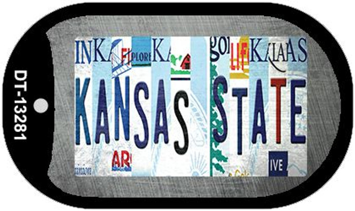 Kansas State Strip Art Wholesale Novelty Metal Dog Tag Necklace DT-13281