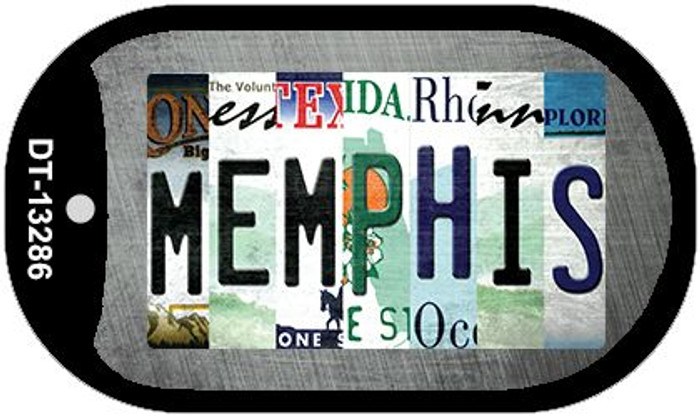 Memphis Strip Art Wholesale Novelty Metal Dog Tag Necklace DT-13286