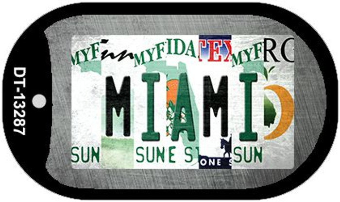Miami Strip Art Wholesale Novelty Metal Dog Tag Necklace DT-13287