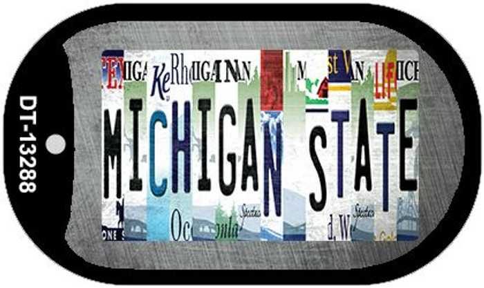 Michigan State Strip Art Wholesale Novelty Metal Dog Tag Necklace DT-13288