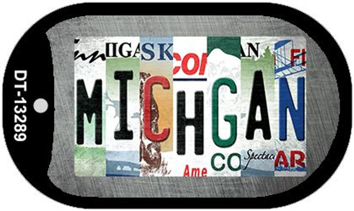 Michigan Strip Art Wholesale Novelty Metal Dog Tag Necklace DT-13289
