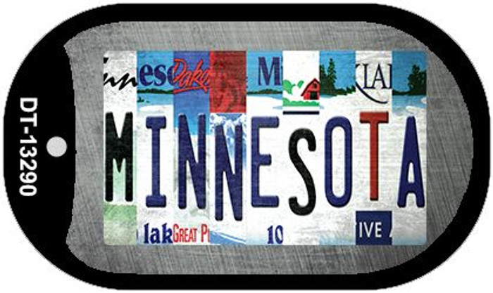 Minnesota Strip Art Wholesale Novelty Metal Dog Tag Necklace DT-13290