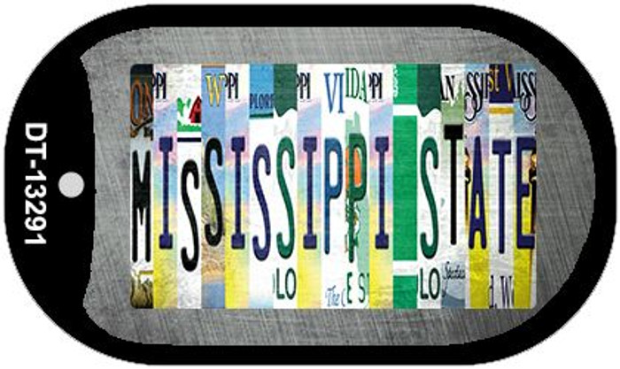 Mississippi State Strip Art Wholesale Novelty Metal Dog Tag Necklace DT-13291