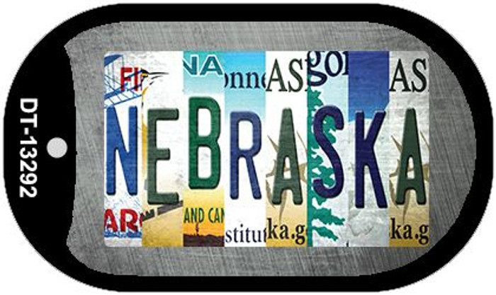 Nebraska Strip Art Wholesale Novelty Metal Dog Tag Necklace DT-13292