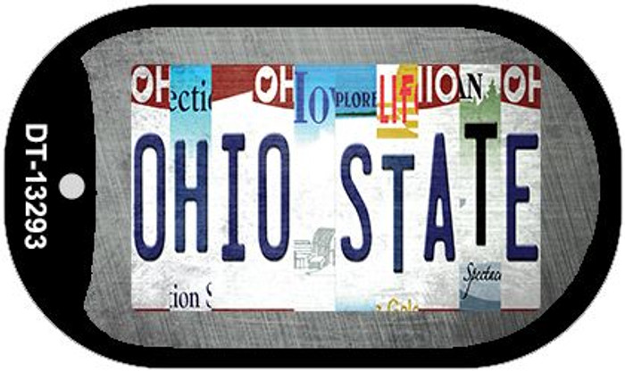 Ohio State Strip Art Wholesale Novelty Metal Dog Tag Necklace DT-13293