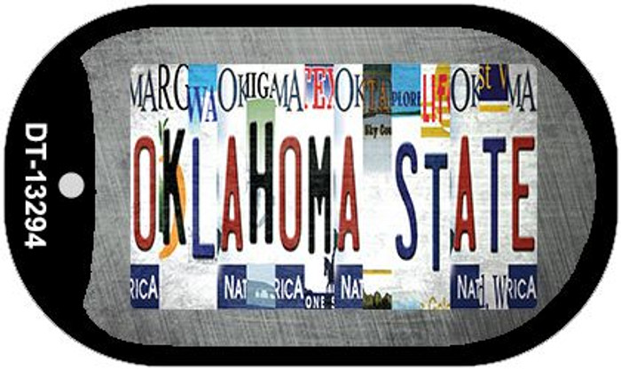 Oklahoma State Strip Art Wholesale Novelty Metal Dog Tag Necklace DT-13294