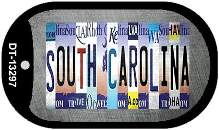 South Carolina Strip Art Wholesale Novelty Metal Dog Tag Necklace DT-13297