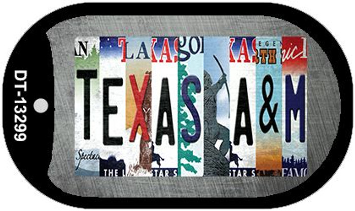 Texas A&M Strip Art Wholesale Novelty Metal Dog Tag Necklace DT-13299