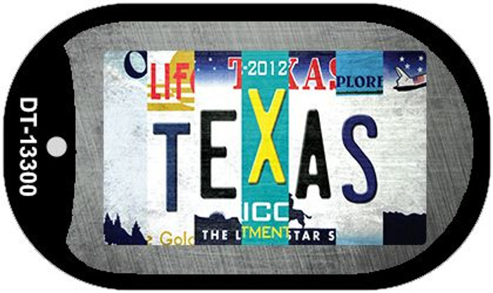 Texas Strip Art Wholesale Novelty Metal Dog Tag Necklace DT-13300