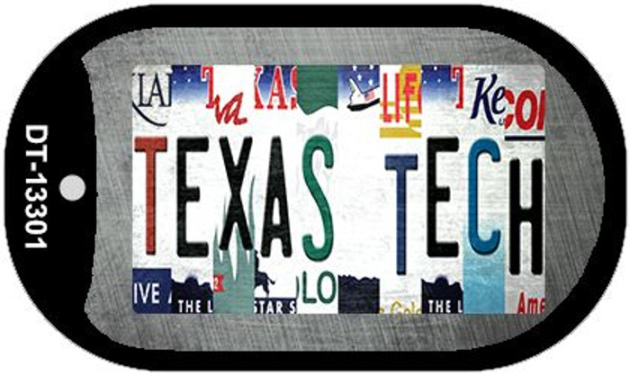 Texas Tech Strip Art Wholesale Novelty Metal Dog Tag Necklace DT-13301