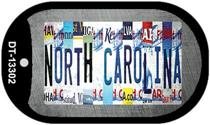 North Carolina Strip Art Wholesale Novelty Metal Dog Tag Necklace DT-13302