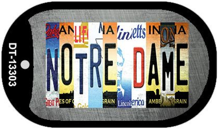 Notre Dame Strip Art Wholesale Novelty Metal Dog Tag Necklace DT-13303
