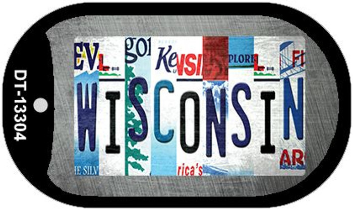 Wisconsin Strip Art Wholesale Novelty Metal Dog Tag Necklace DT-13304